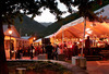 Arrowtown street party sunset