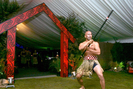 Maori Welcome in Marquee
